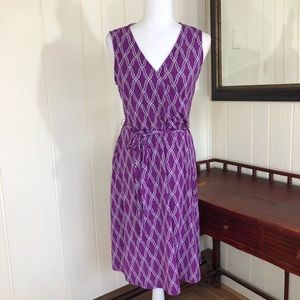 41 Hawthorne Purple Print Sleeveless Dress